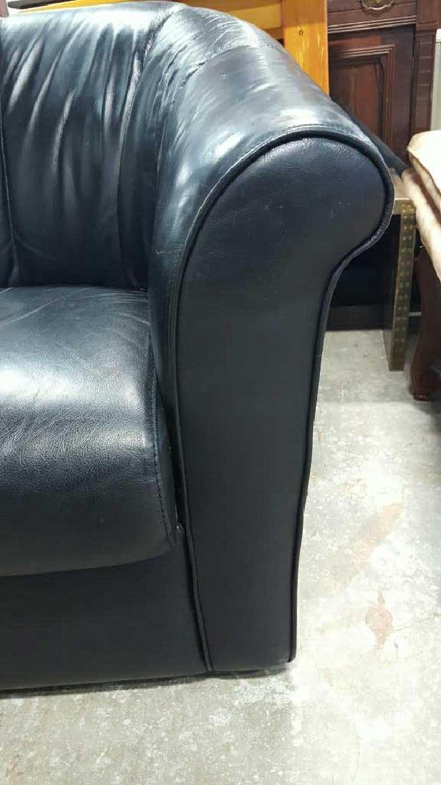 Italsofa Leather Arm Chair & Footrest - 4