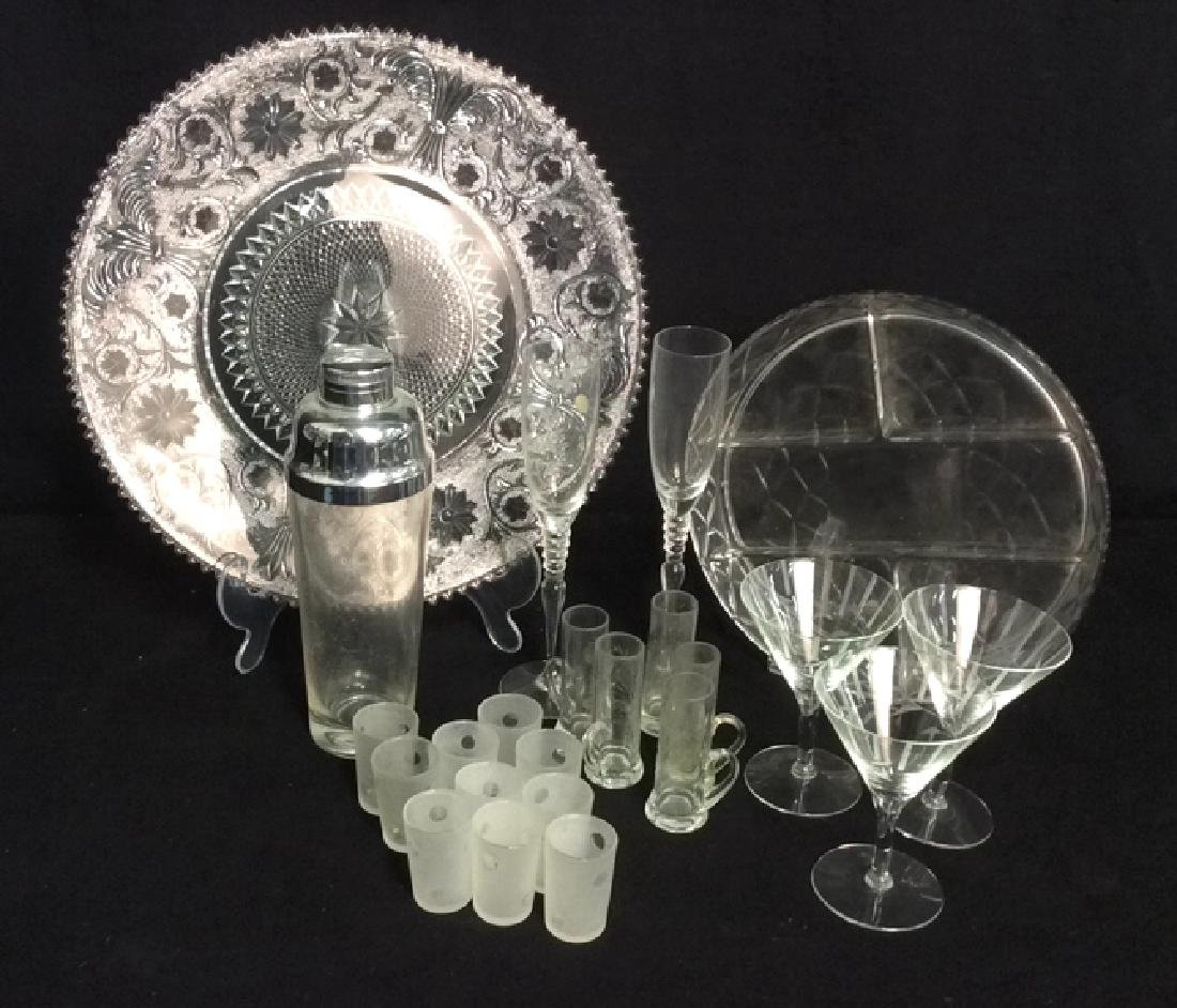 Group Lot Of Glassware