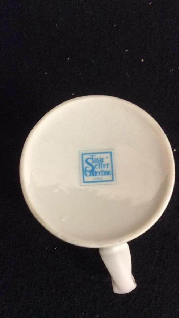 Set Of 6 White Ceramic Espresso Cups & Saucers - 4