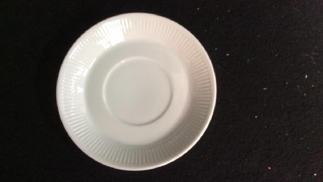 Set Of 6 White Ceramic Espresso Cups & Saucers - 5