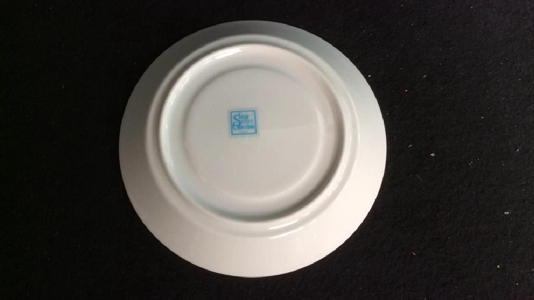 Set Of 6 White Ceramic Espresso Cups & Saucers - 6