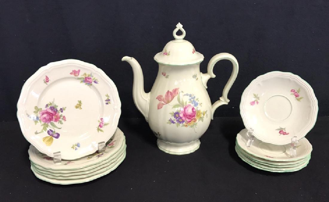 13 Piece ROSENTHAL BAHNHOF Teapot & Plates