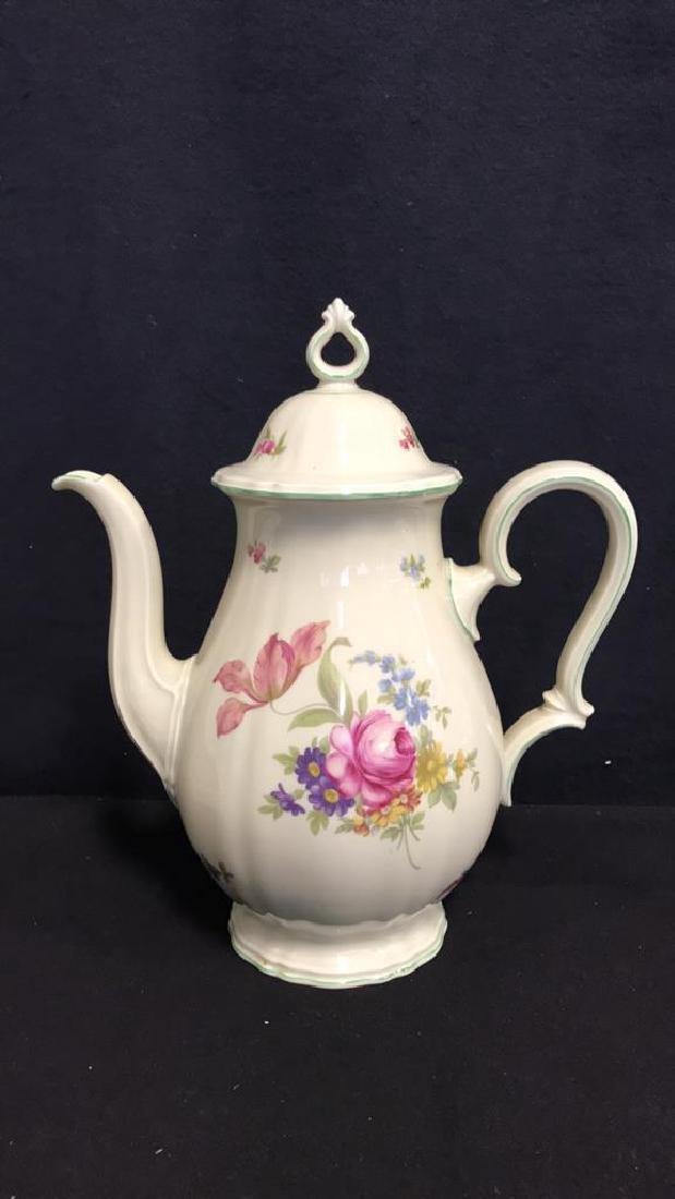13 Piece ROSENTHAL BAHNHOF Teapot & Plates - 2