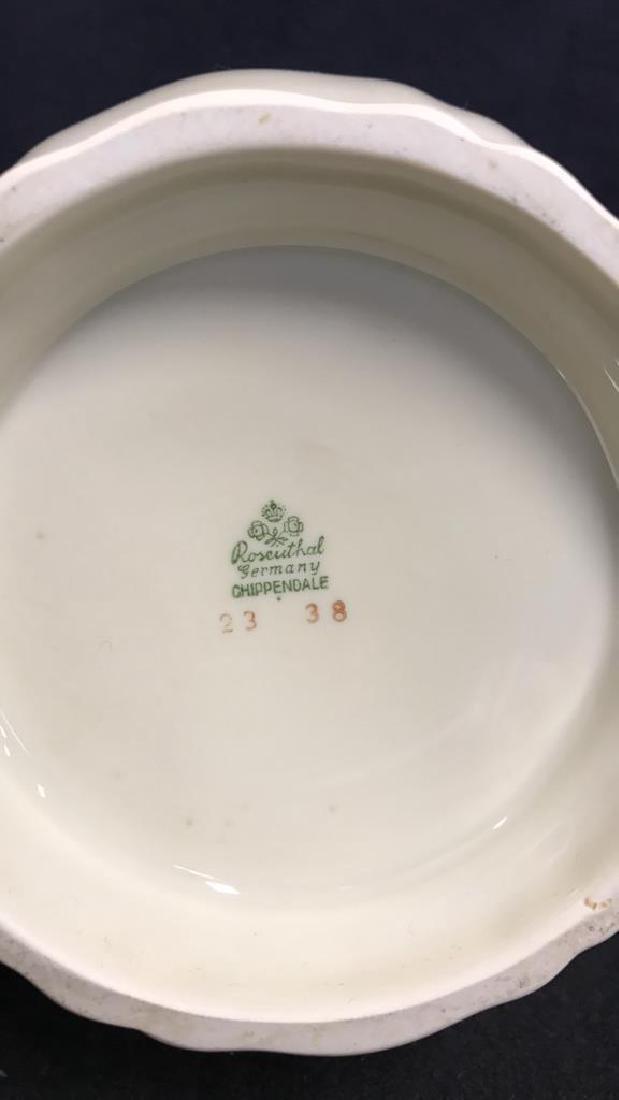 13 Piece ROSENTHAL BAHNHOF Teapot & Plates - 4