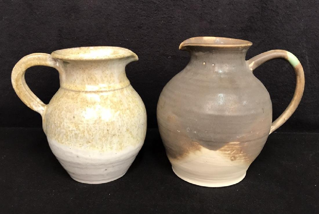 2 Hand Made Pottery Pitchers