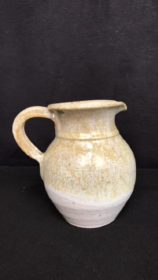 2 Hand Made Pottery Pitchers - 2