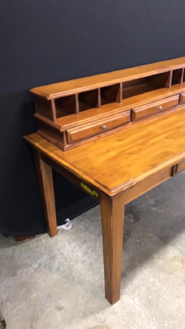 Vintage Wood Desk - 2