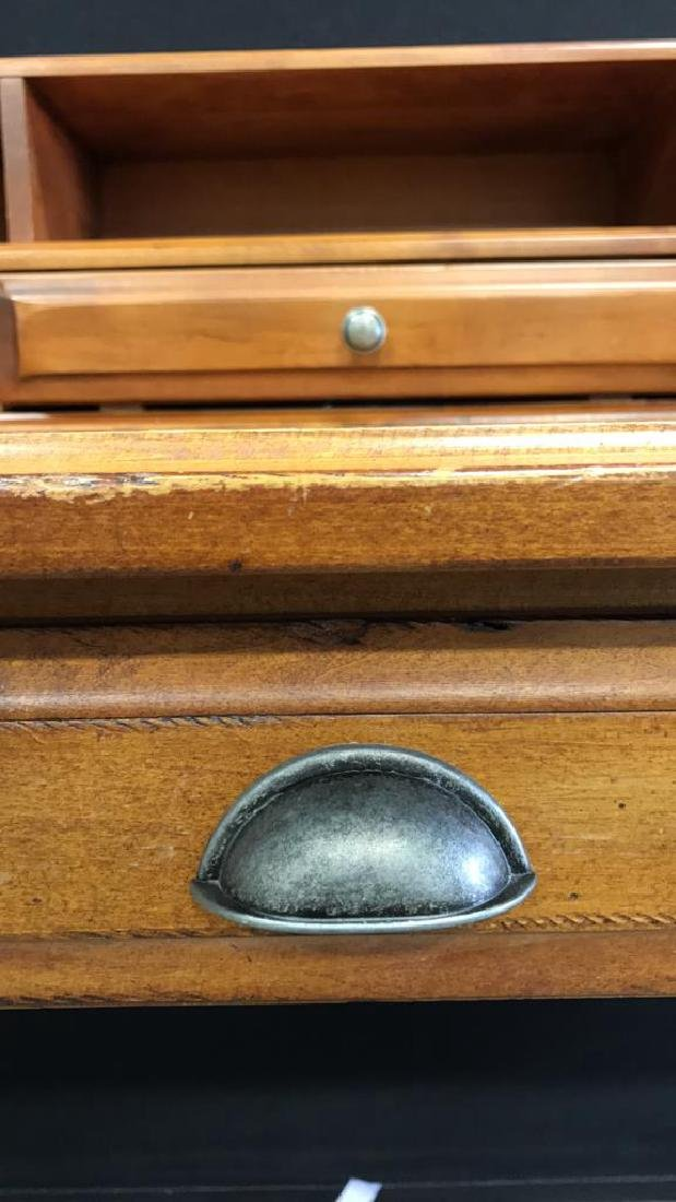 Vintage Wood Desk - 7