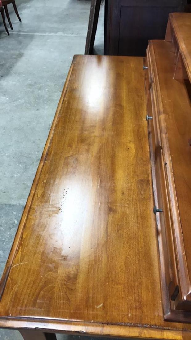 Vintage Wood Desk - 9