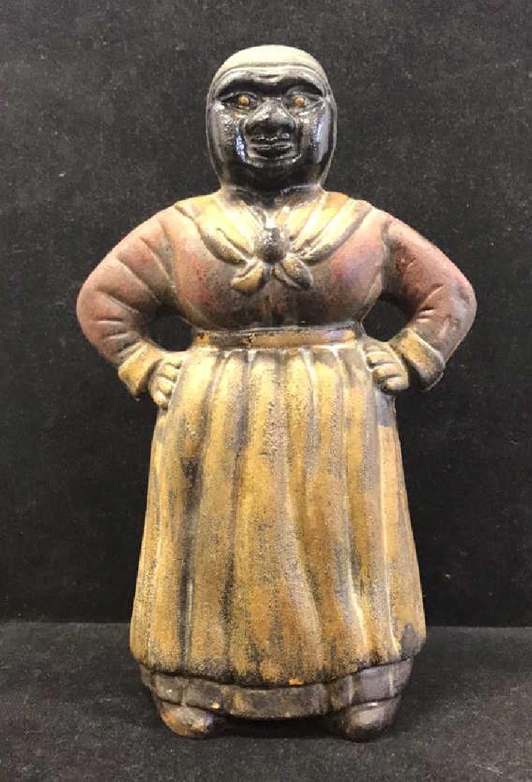 Antique Cast Iron Aunt Jemima Piggy Bank