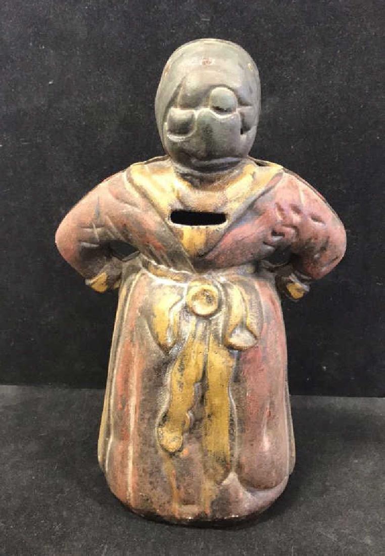 Antique Cast Iron Aunt Jemima Piggy Bank - 4