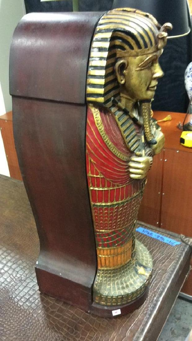 King Tut Painted Wood Cabinet - 6