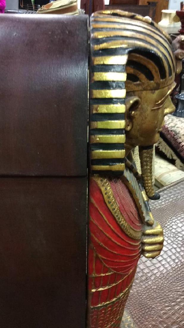 King Tut Painted Wood Cabinet - 8