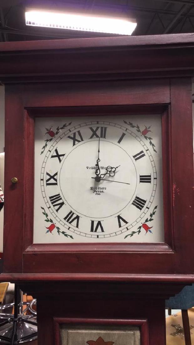 Trisden Manor Vintage Tall Wooden Case Clock - 2