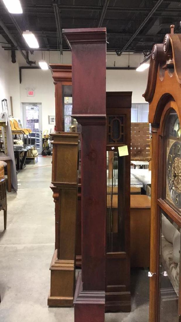 Trisden Manor Vintage Tall Wooden Case Clock - 5