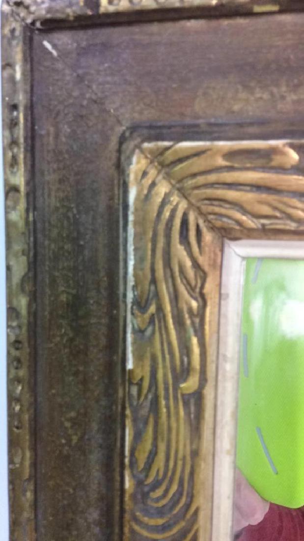 Vintage Gold Framed Mirror - 2