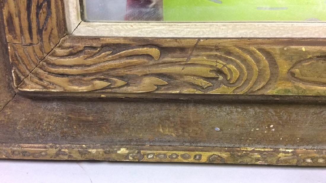 Vintage Gold Framed Mirror - 5