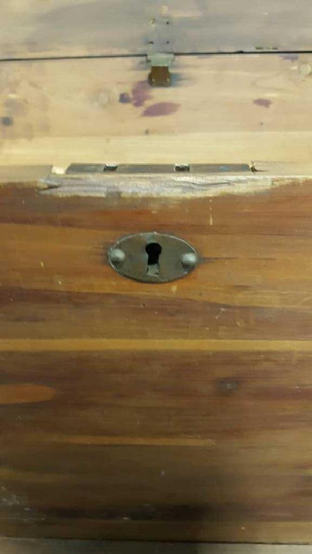 Antique Wood Chest - 8