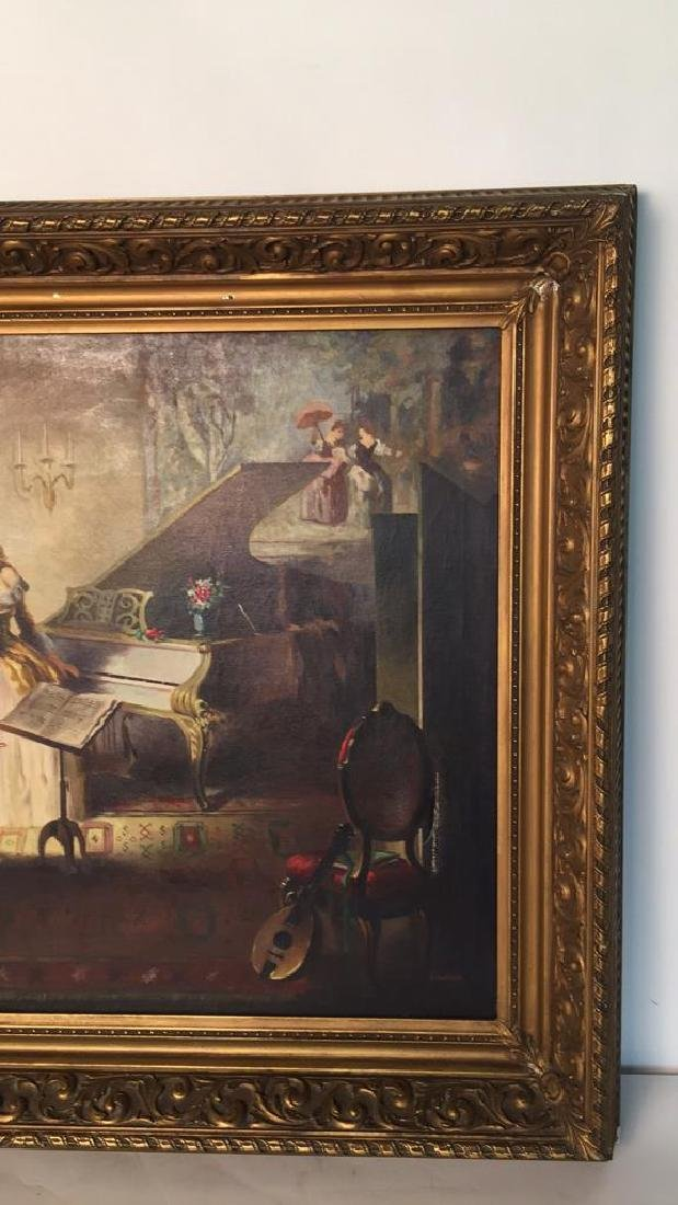 A. SHAPIRO Large Oil Painting & Gilt Frame - 5