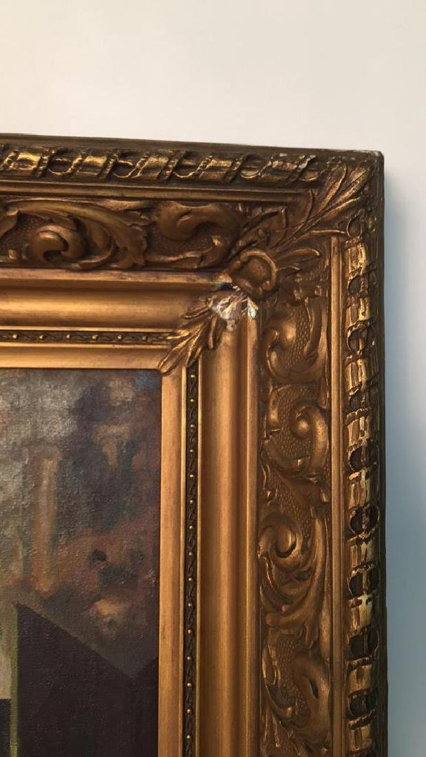 A. SHAPIRO Large Oil Painting & Gilt Frame - 8