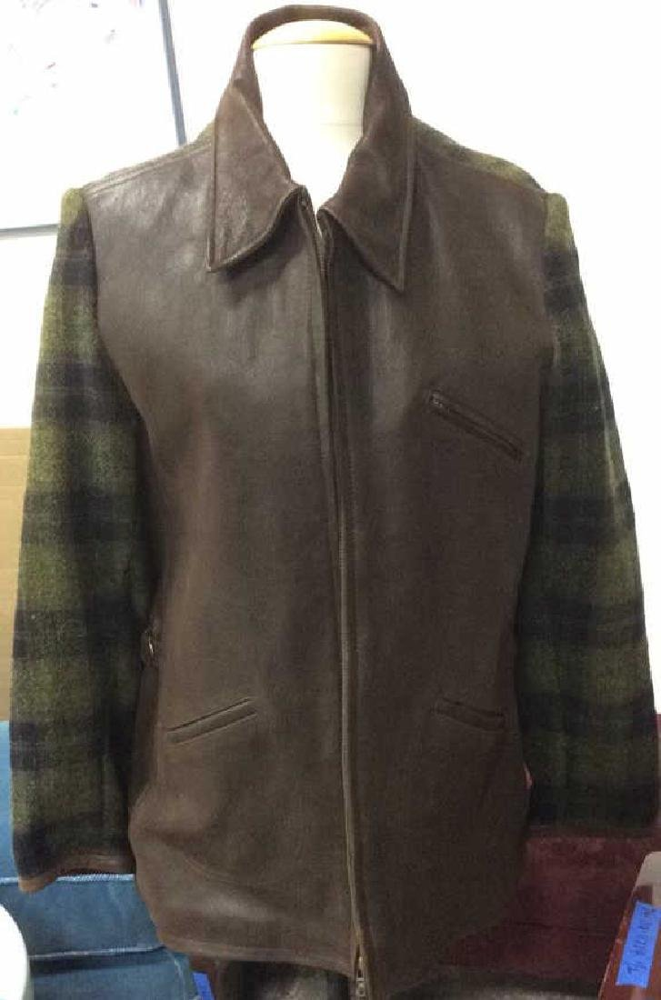 Gap Brand Leather & Wool Jacket