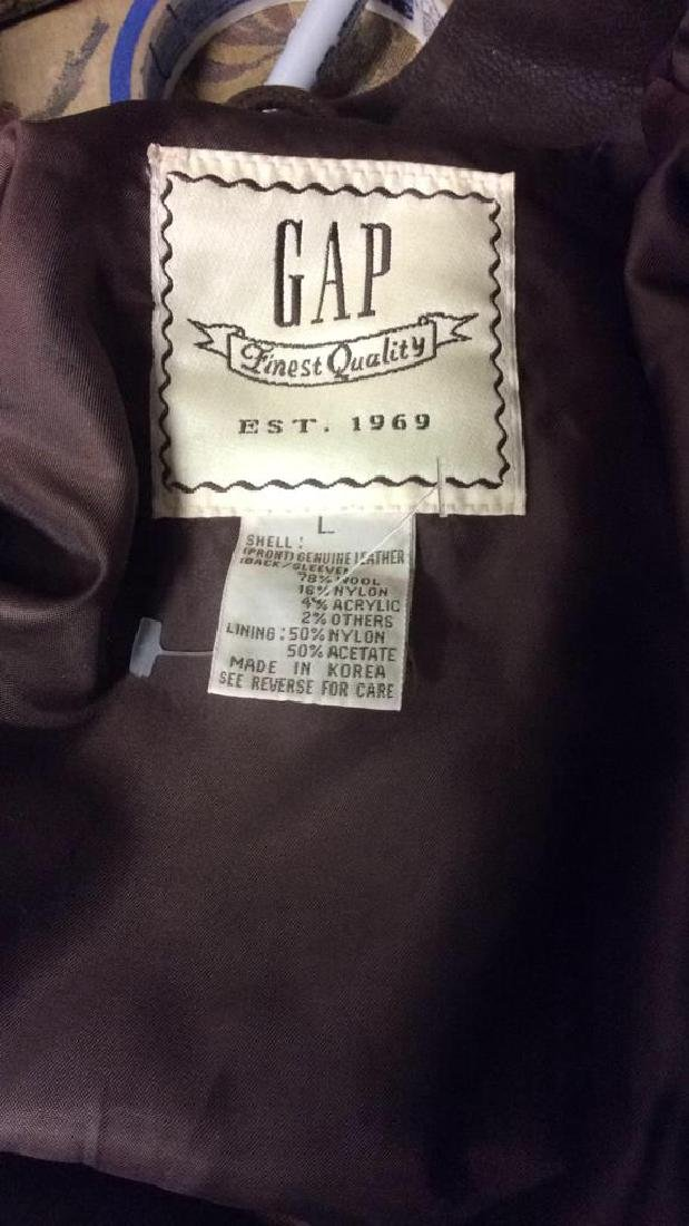 Gap Brand Leather & Wool Jacket - 7