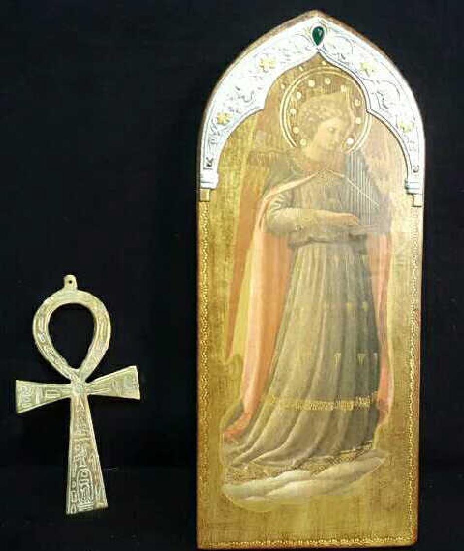 Coptic Anhk & Religous Plaque