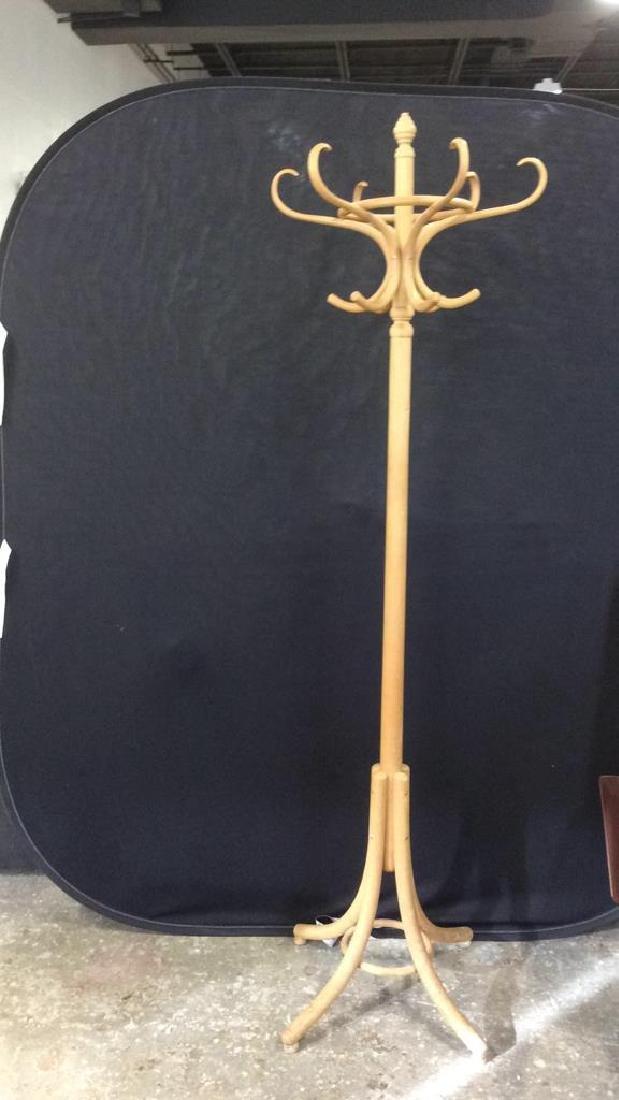 Antique Style Wooden Coat Rack - 8