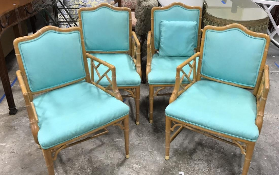 Set 4 Bamboo Style Chairs