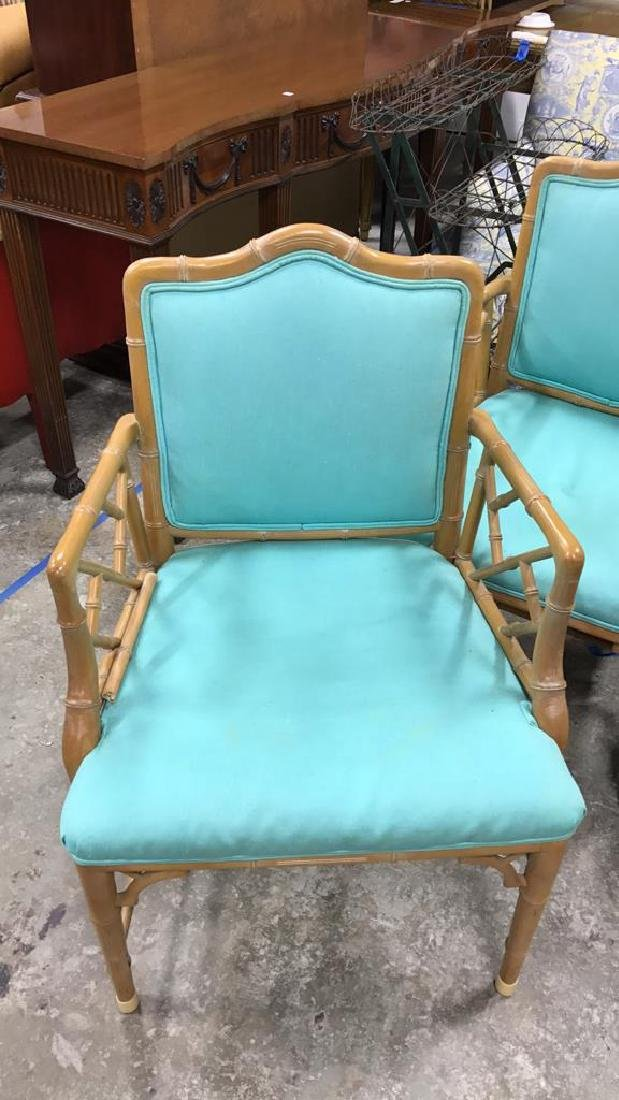 Set 4 Bamboo Style Chairs - 2