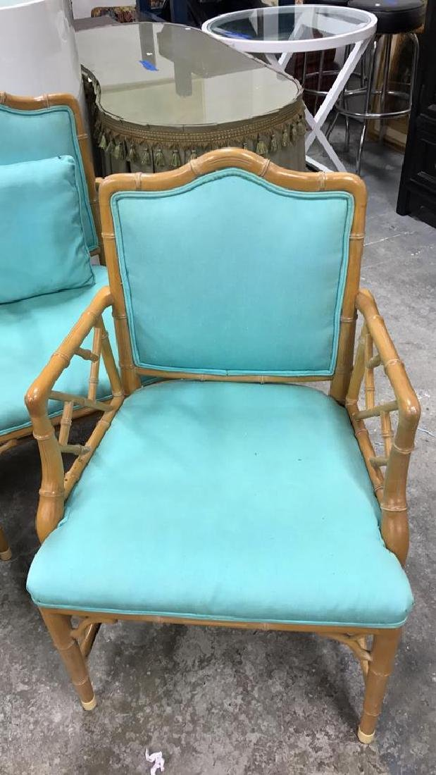 Set 4 Bamboo Style Chairs - 3