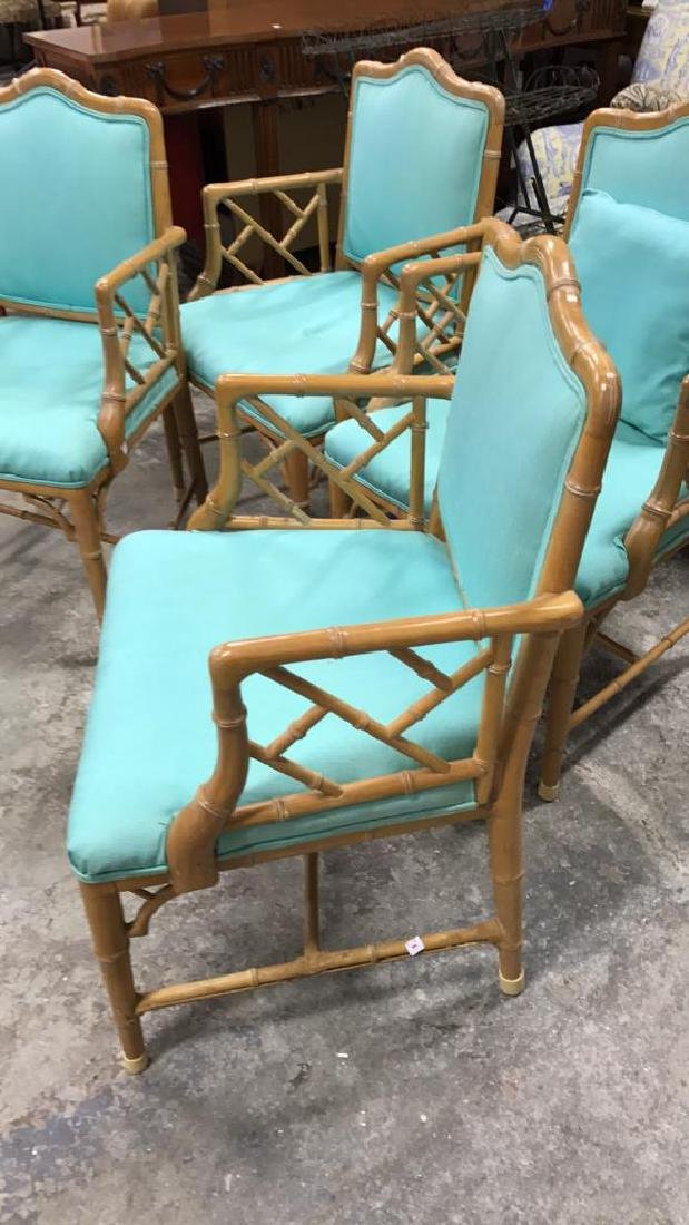 Set 4 Bamboo Style Chairs - 4