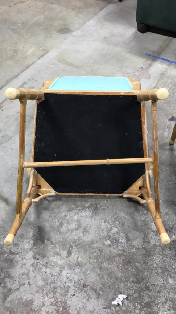 Set 4 Bamboo Style Chairs - 6
