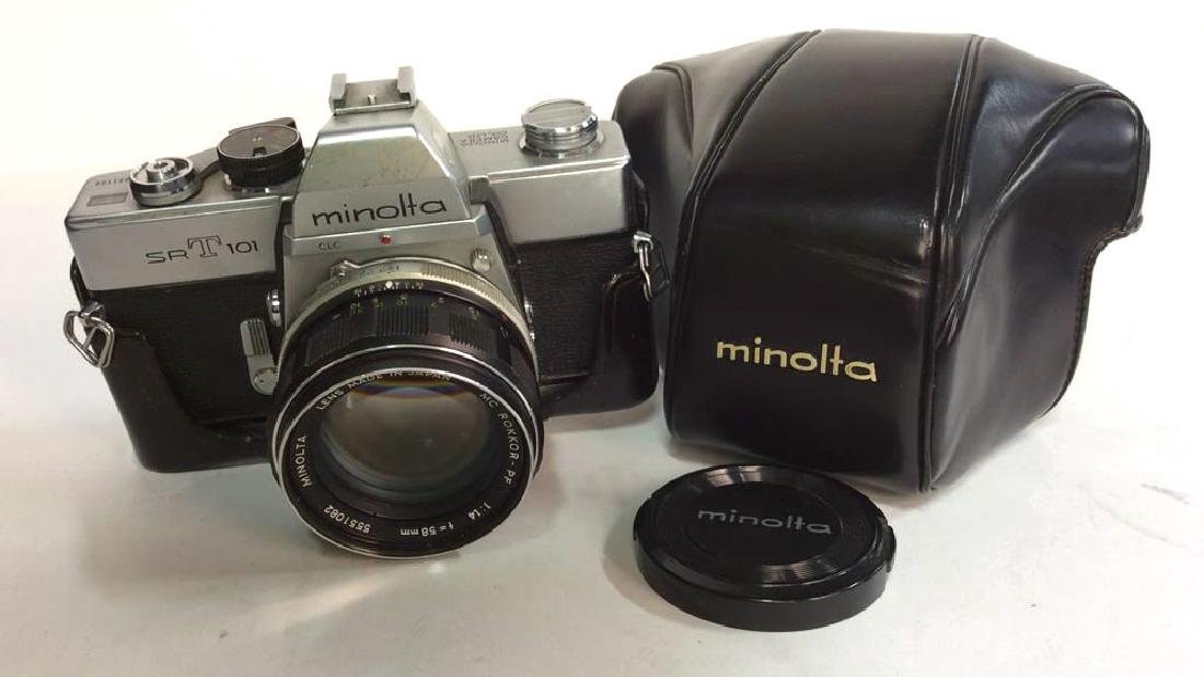 Minolta SR T 101 Camera with Lens