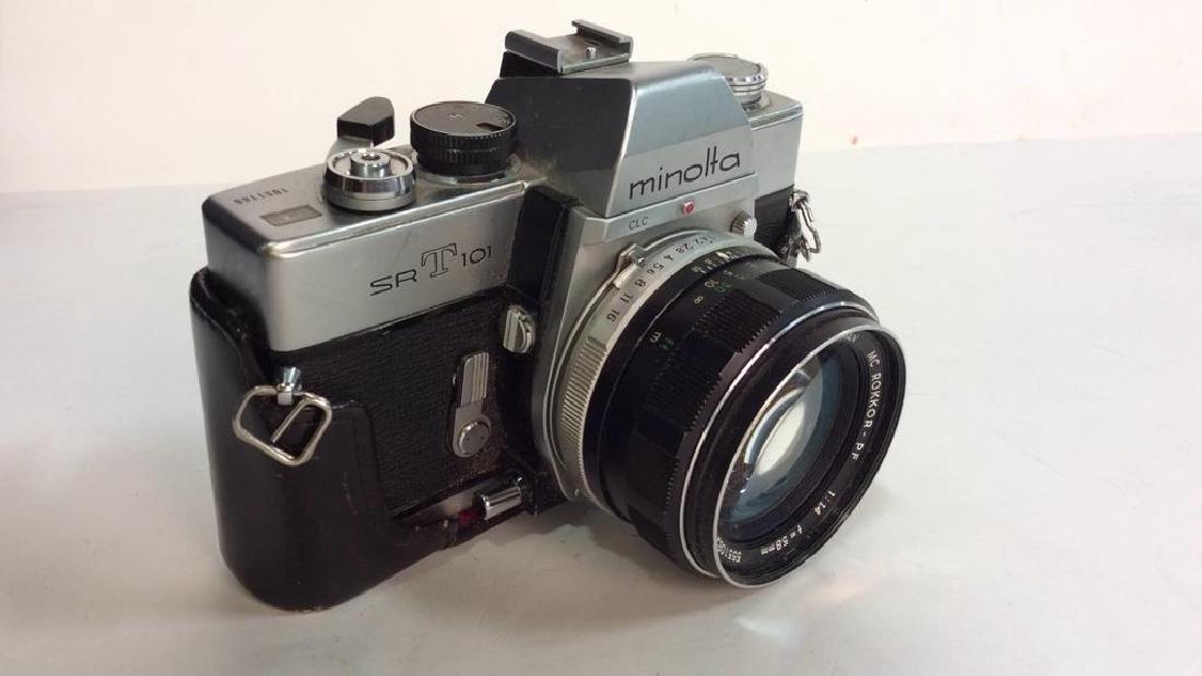 Minolta SR T 101 Camera with Lens - 2