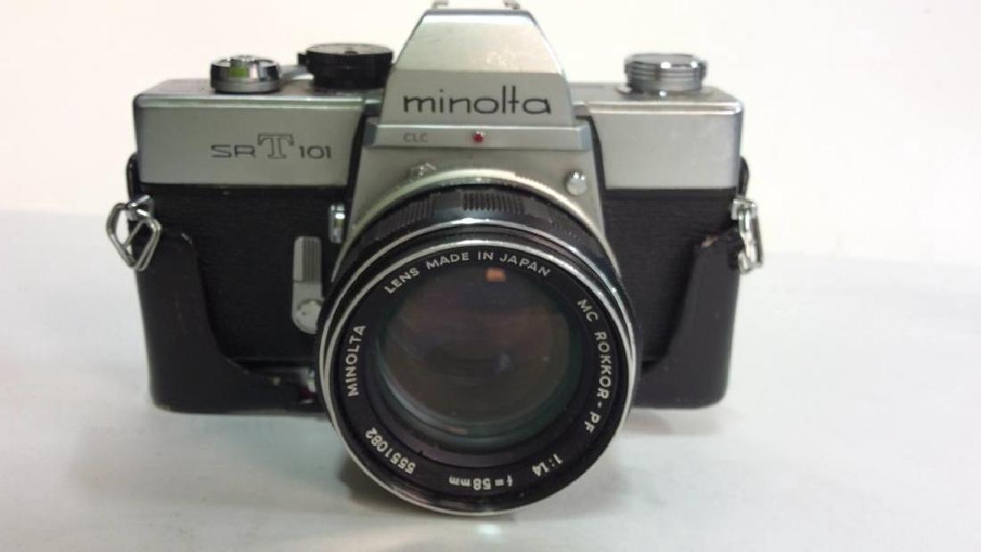 Minolta SR T 101 Camera with Lens - 3