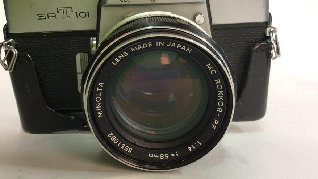 Minolta SR T 101 Camera with Lens - 4