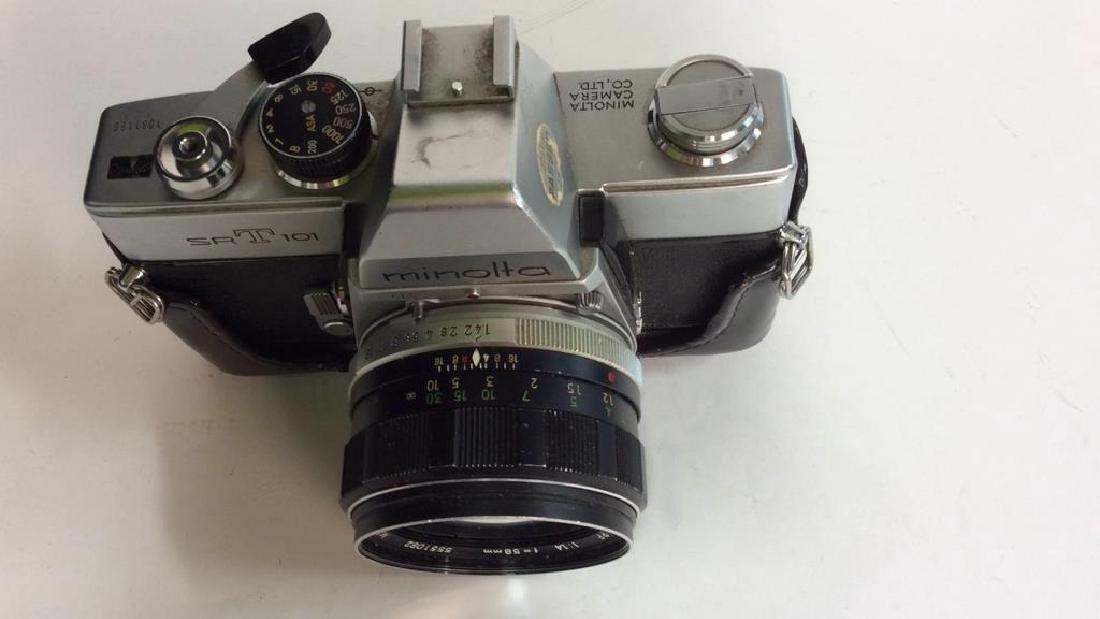 Minolta SR T 101 Camera with Lens - 5