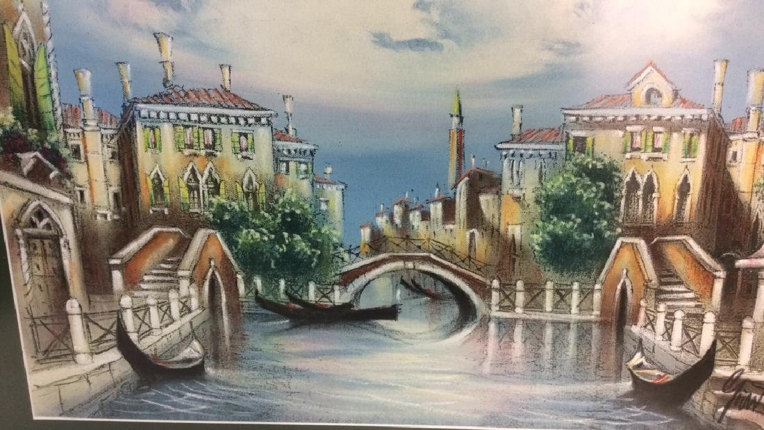 Signed Dated Pastel Of Venice