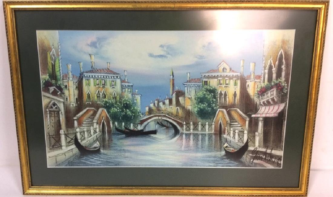 Signed Dated Pastel Of Venice - 2