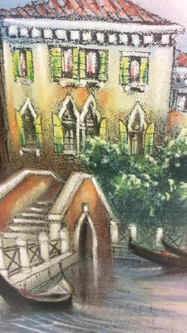 Signed Dated Pastel Of Venice - 3