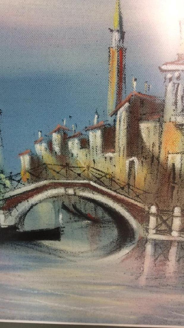 Signed Dated Pastel Of Venice - 4