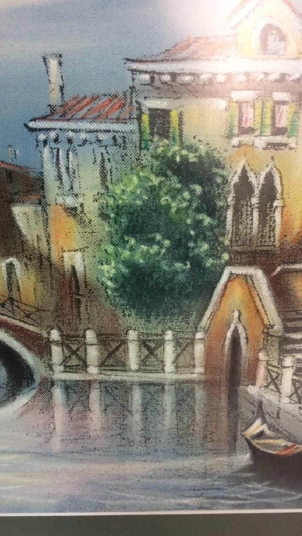Signed Dated Pastel Of Venice - 5