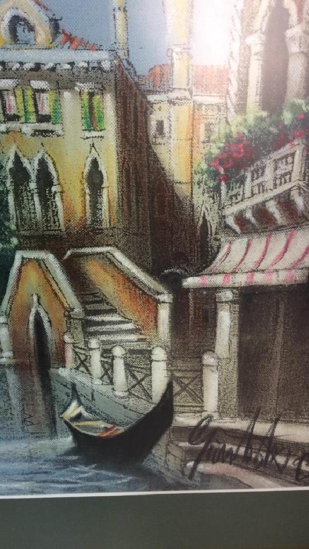 Signed Dated Pastel Of Venice - 6