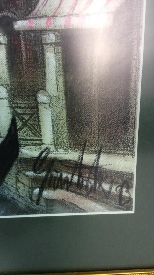 Signed Dated Pastel Of Venice - 7