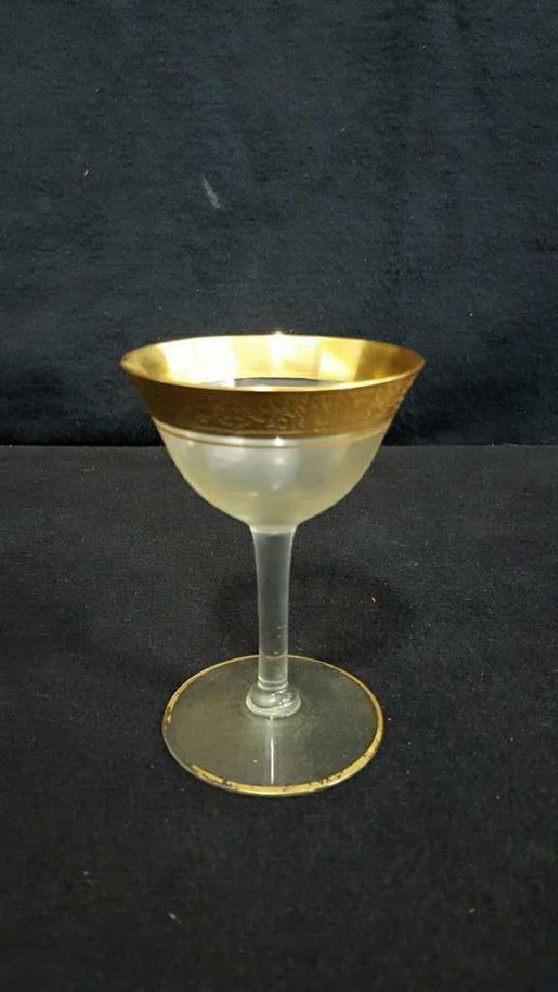 Lot of 8 Gold Trim Glasses - 2