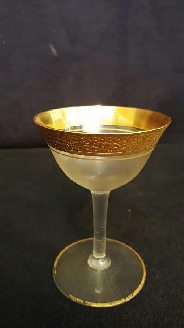 Lot of 8 Gold Trim Glasses - 3