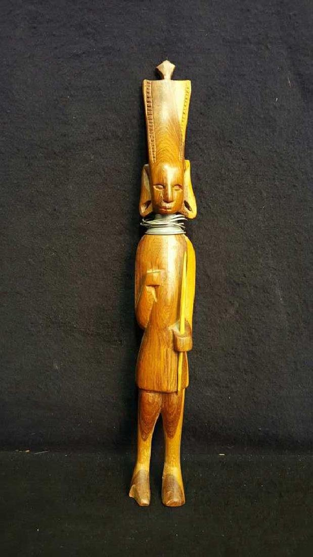 Pair of Wooden Male Statues - 2