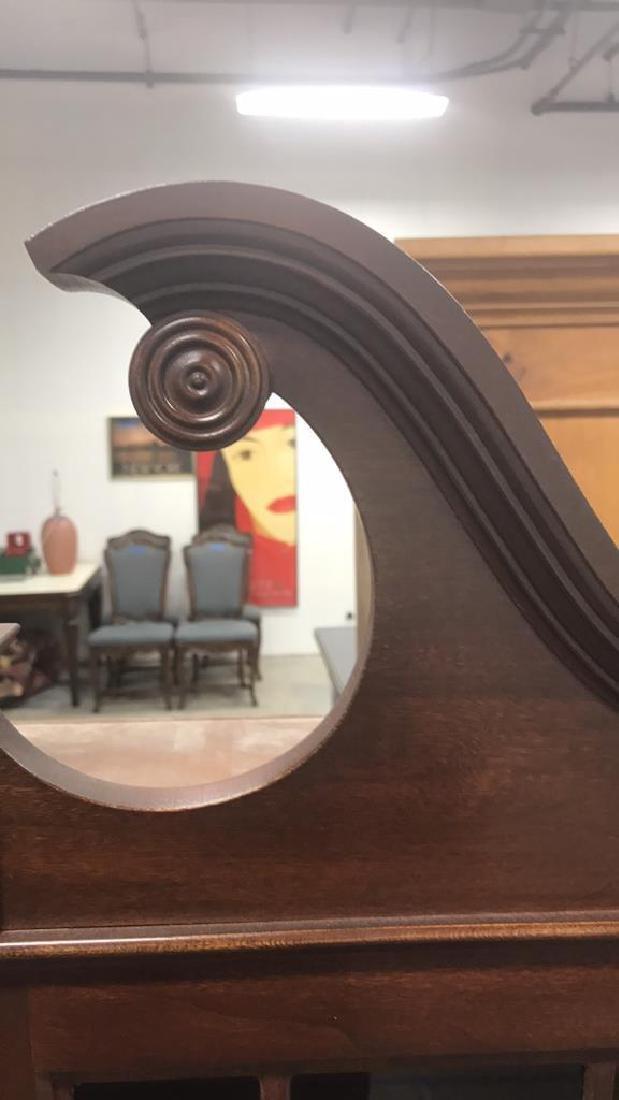 Vintage Federal Style Wood Cabinet - 4
