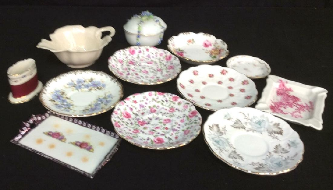 Assorted Porcelain Group Lot Includes hand painted